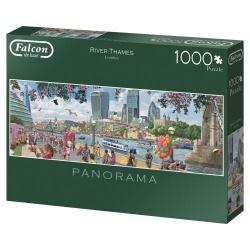 River Thames, London, Falcon panorama 1000 stukjes