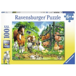 Dierenbijeenkomst 100 stukjes Ravensburger