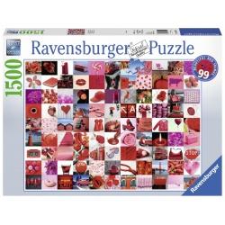 99 beautiful red things ravensburger 1500stukjes