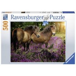 Pony's tussen de hei 500stukjes Ravensburger