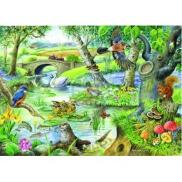 "House of Puzzles.BIG 500stukjes Tales of the River  ""The BramptonCollection ""  Afmeting van 68*48cm"