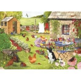 "House of Puzzles. 500stukjes Large    Grandma s Garden  "" The Grange Collection """