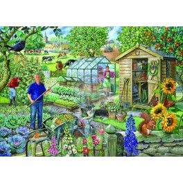 """House of Puzzles.BIG 500stukjes  At the Allotment  """"The Pencraig Collection """"  Afmeting van 68*48cm"""