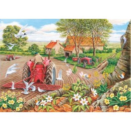 """House of Puzzles  500 stukjes Big   """" Red Harrows""""   The Kinkell Collection"""