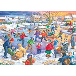 """House of Puzzles  500 stukjes   """" Ice Skating """"   The Kinkell Collection"""