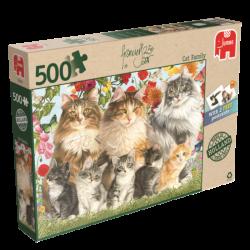 Francien`s Katten familie, jumbo 500stukjes