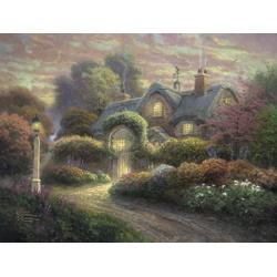 Cottage in rozentuin  1000stukjes