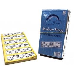 Bingo kaarten 600stuks voor 90 ballen