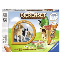 Tiptoi Dierenset Golden retriever/kat, Ravensburger