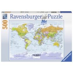 Politieke Wereldkaart 500stukjes Ravensburger