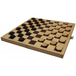 Dammen is een bordspel waarbij degene die geen zet meer kan maken, of al zijn schijven is verloren, verliest. - Puzzel & Spel